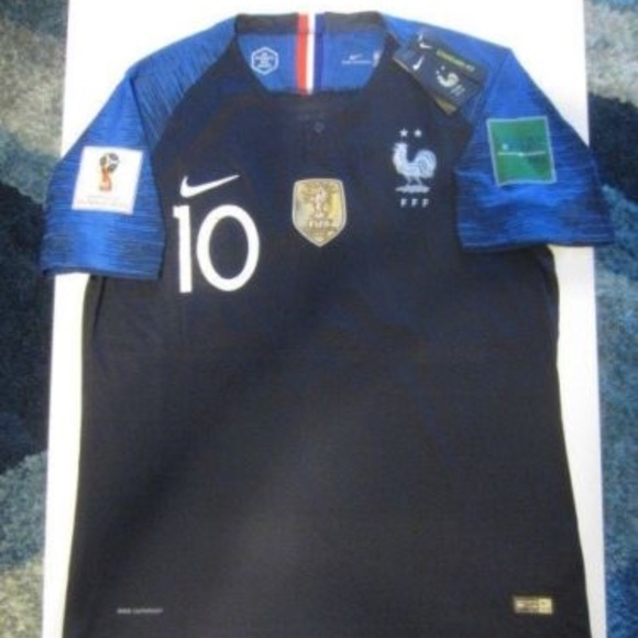 official photos 69285 39ba0 NIKE K. MBAPPE FRANCE 2 STAR 2018 WORLD CUP JERSEY NWT